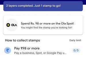 selfie stamp in googlepay 2020