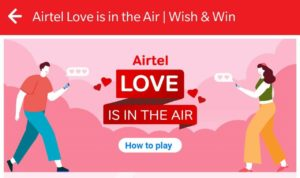 Airtel Love is In The Air Game Tricks